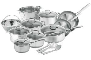 Chef's Star Professional Grade Stainless Steel 17 Piece Pots and Pans Set