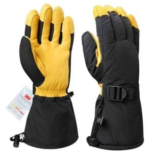 OZERO Ski Gloves, - 40°F Cold Proof Winter Thermal Glove for Men & Women