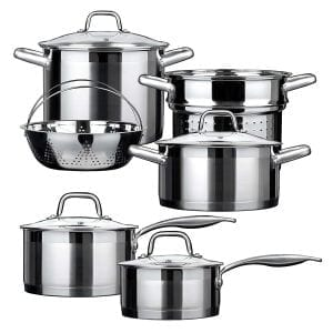 Duxtop SSIB Stainless Steel Induction Cookware Set