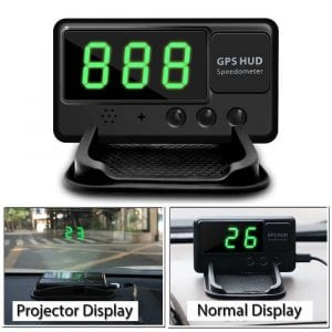 Vjoycar C60 Universal HUD head up display GPS speedometer
