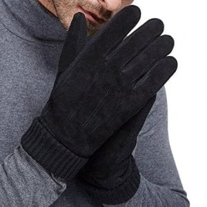 LETHMIK Men & Women Black Winter Gloves