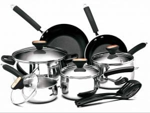 Paula Deen Signature Stainless Steel II 12-Pieces Cookware Set