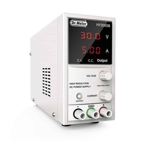 Dr.meter 30V 5A DC Power Supply with Alligator Cable and Power Cord