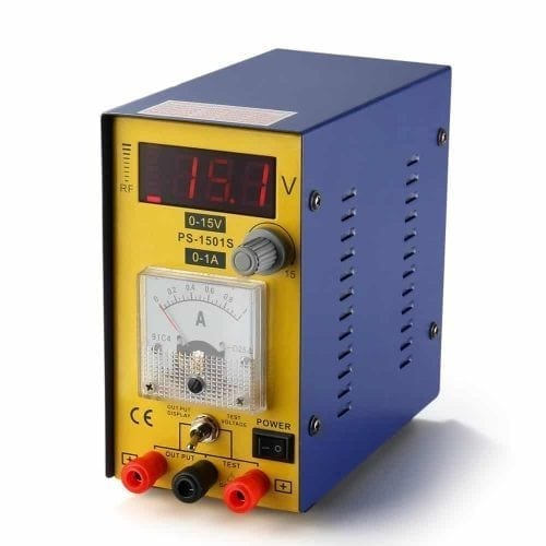 Flexzion DC Compact Power Supply 15V 1A - Adjustable Variable Regulated Digital Precision Equipment