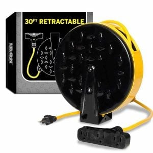 Iron Forge Cable 30Ft Retractable Extension Cord Reel
