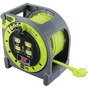 Masterplug 40ft Heavy Duty Extension Cord Case Reel