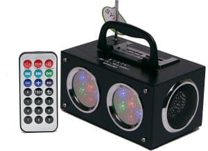 Sykik Mini Bluetooth Boom Box with Dancing Light Show