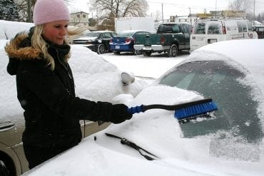 Car snow brushes