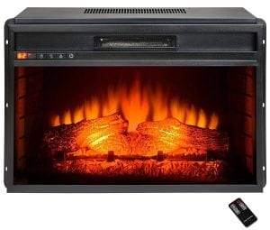 AKDY Black Electric Firebox Heater Insert