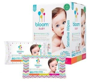 Bloom Unscented Hypoallergenic Baby Wipes