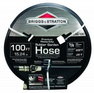 Briggs and Stratton 8BS100 Premium Heavy-Duty Rubber Garden Hose