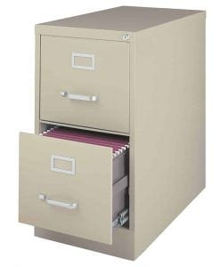 CommClad 2-Drawer Letter-Size Vertical File cabinet