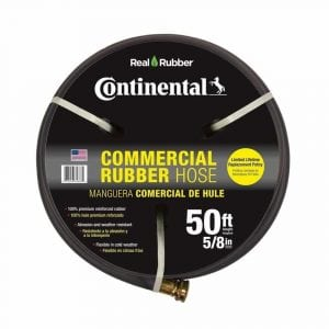 Continental Premium Commercial Grade Rubber Black Water Hose