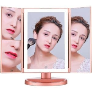 Cosy Life Lights Newest Tri-fold Makeup Vanity Mirror with Touch Screen