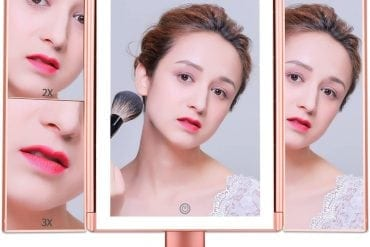Cosy Life Lights Newest Tri-foldMakeup Vanity Mirrorwith Touch Screen