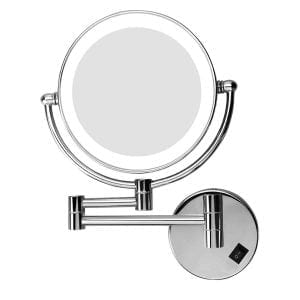 Excelvan 7x Magnification Wall Mount MakeUp Vanity Mirror with LED Light