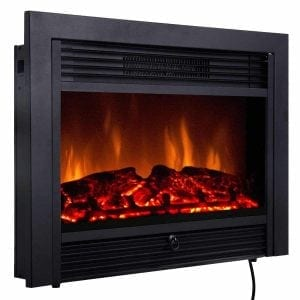Giantex Electric Fireplace Insert with Remote Control