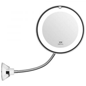 KEDSUM Flexible Gooseneck Magnifying LED Lighted Makeup Mirror