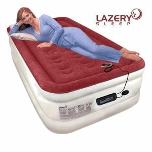 Lazery Sleep Air Mattress Airbed with Built-In Electric 7 Settings Remote LED Pump