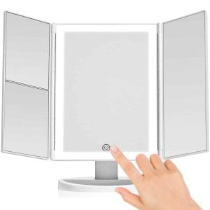Lighted Makeup Mirror Vanity Mirror with Lights, Touch Screen Dimming