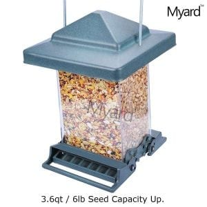 MYARD Double Sided Squirrel Proof Bird Feeder