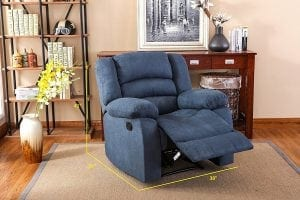 NHI Express Addison Contemporary Microfiber Recliner
