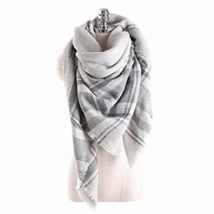 Neal link checked pashmina blanket scarf