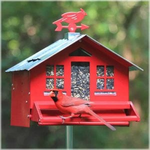 Perky-Pet Squirrel Be Gone II Country House Bird Feeder with Weathervane