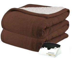 Pure Warmth Sherpa Electric Heated Blanket
