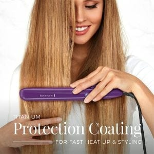 "Remington 1"" Flat Iron with Anti-Static Technology and Digital Controls"