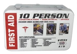 SAS Safety 10-Person First-Aid Kit