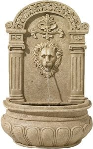 Sand Finish Lion Face 31 High Wall Fountain