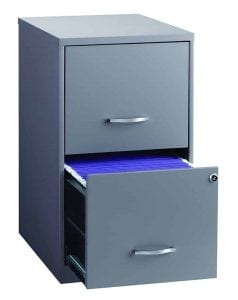 Space Solutions 2-Drawer Metal File Cabinet