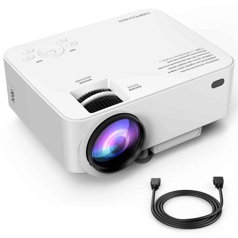 Upgraded DBPOWER T20 Multimedia Home Theater Video Projector
