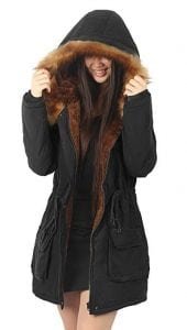 iLoveSIA Women's Hooded Warm Coats Parkas with Faux Fur Jackets