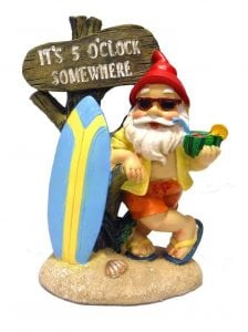 mayinc 5-00 Somewhere Tropical Party Gnome Garden Statue