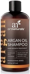 Art Naturals Organic Argan Oil Hair Loss Shampoo for Hair Regrowth 16 Oz - Sulfate Free