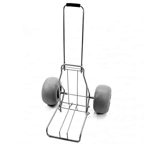 The Beach Cart Rolling Caddy Large Balloon Tires Heavy Duty with Air Pump