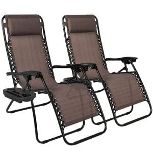 Best Choice Products Set of 2 Adjustable Zero Gravity Chairs