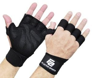 Harbinger Pro Wrist Wraps Weighted Gloves with Vented Cushioned Leather Palm