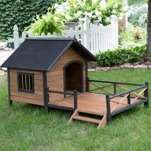 Large House Lodge and Porch Deck Kennels