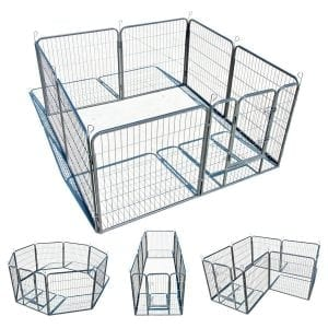 My1stPet 8 Panels Outdoor Dog Kennel