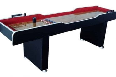 The MD Sports 8' Poly-Coated Surface Shuffleboard Table