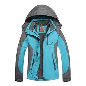 Women's Hooded Waterproof Jacket - Diamond Candy lightweight Softshell Casual Sportswear