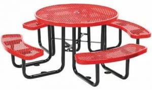 "46"" Round Metal Picnic Table"