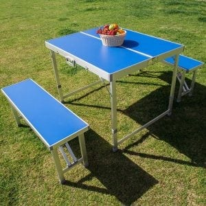 AceLife Folding Aluminum Suitcase Table