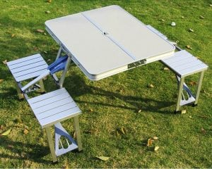 Artist Hand Aluminum Folding Picnic Table