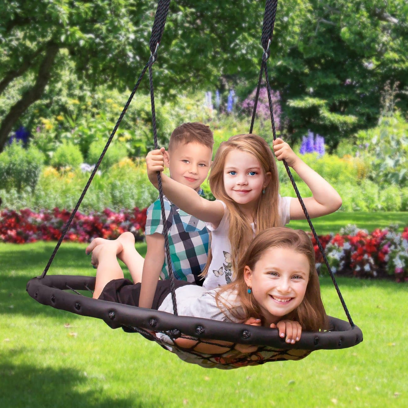 """40/"""" Spider Tree Swing for Kids 660 lb Steel Frame w//2 Hanging Strap Easy Install"""