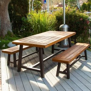 Top Best Picnic Tables In Best Choice Products Buying Guide - Treated lumber picnic table