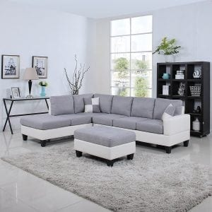 Divano Roma Furniture Classic Sectional Sofa
